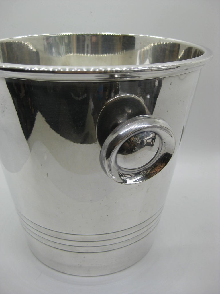 Art Deco Saint Medard Le Chardon French Silverplate Ice Bucket Champagne Cooler For Sale 3