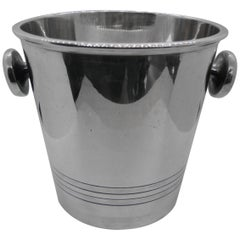Art Deco Saint Medard Le Chardon French Silverplate Ice Bucket Champagne Cooler