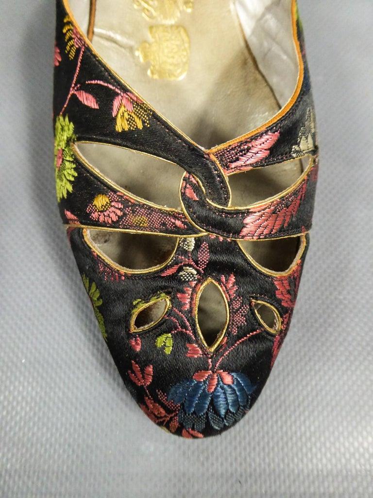 Art Deco Salomé or Charles IX Satin Shoes for the Ball Circa 1915  1