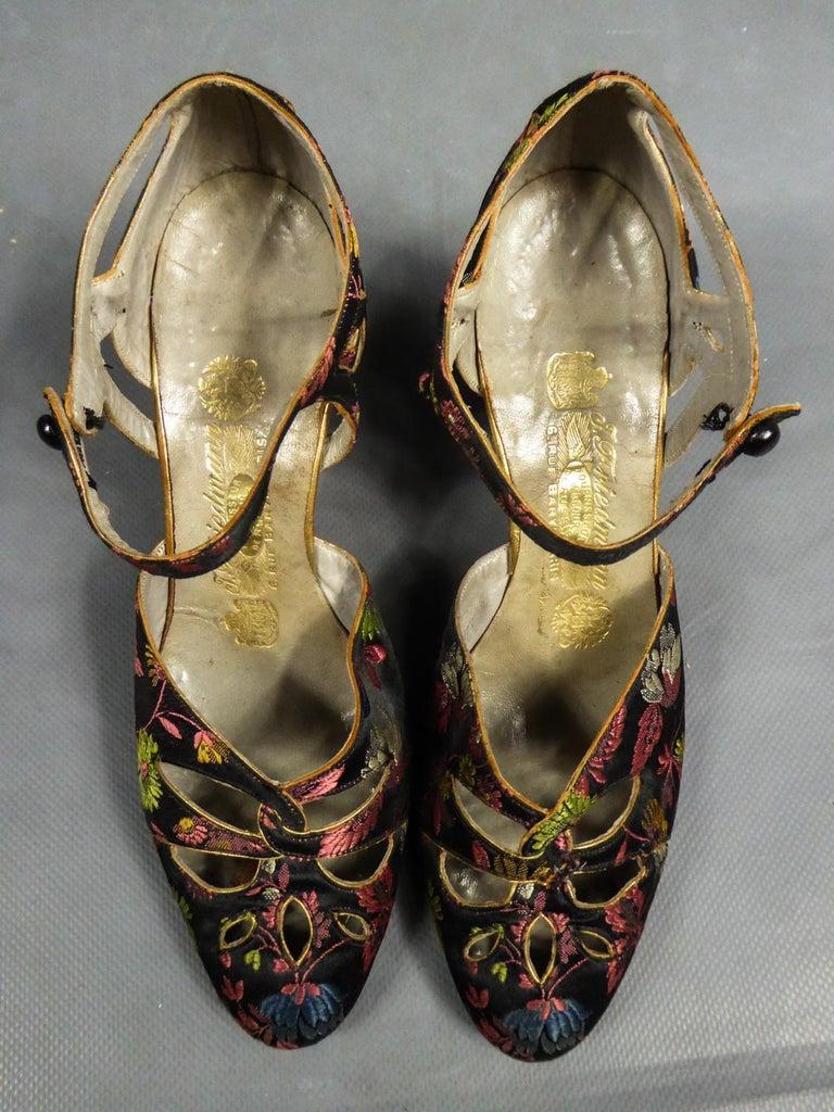 Art Deco Salomé or Charles IX Satin Shoes for the Ball Circa 1915  2