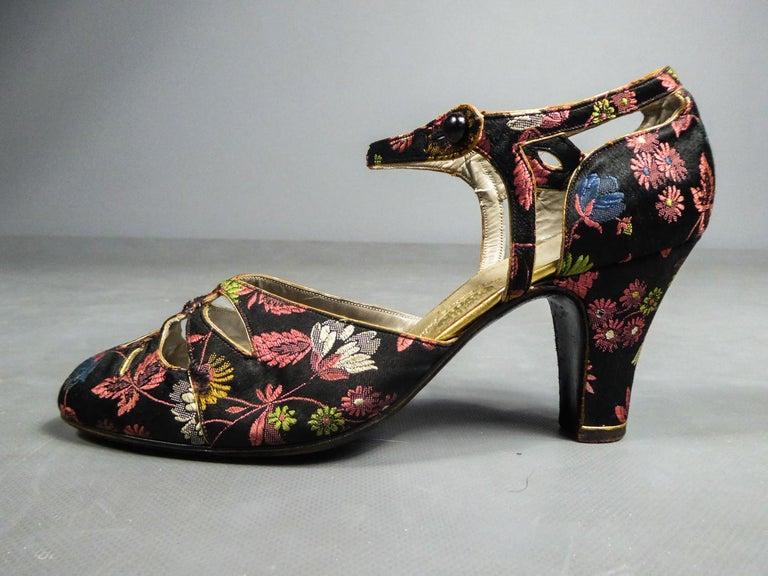 Art Deco Salomé or Charles IX Satin Shoes for the Ball Circa 1915  3