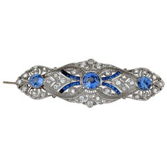 Art Deco Sapphire and Diamond Brooch