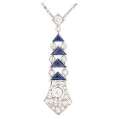 Art Deco Sapphire and Diamond Necklace, circa 1920s
