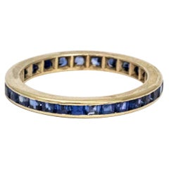 Art Deco Sapphire and Platinum Eternity Ring