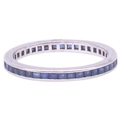 Art Deco Sapphire and White Gold Eternity Band