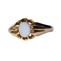 Art Deco Sardonyx and 9 Carat Gold Ring