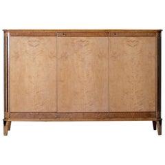 Art Deco Satin Birch Sideboard