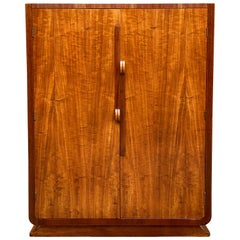Art Deco Satinwood and Mahogany Six Drawer Dresser Cabinet
