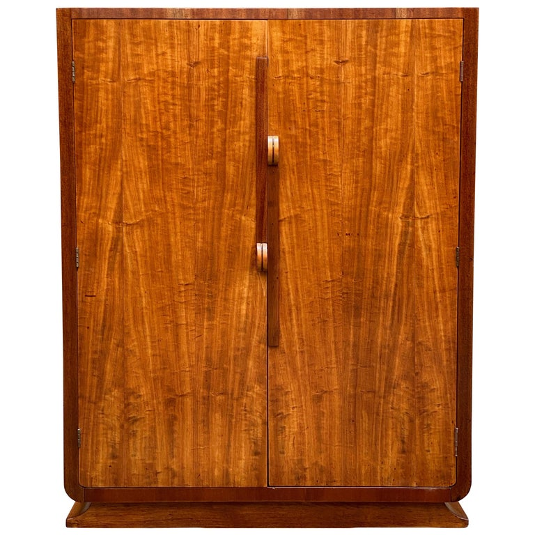 Satinwood and mahogany dresser cabinet, 1930s, offered by Anthony Rosa