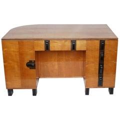 Art Deco Satinwood Desk by Maurice Adams