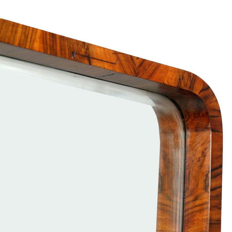 Art Deco Sculptural Entry Cabinet, Mirrored Toilette by Borsani in Burl Walnut For Sale 1