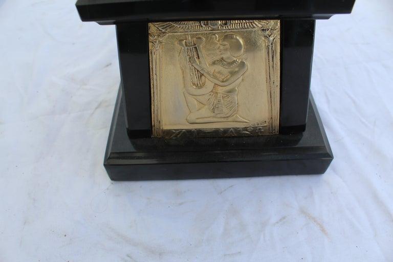 Art Deco Sculpture, Egyptian Dancer after D H Chiparus, Bronze, Marble Base For Sale 2
