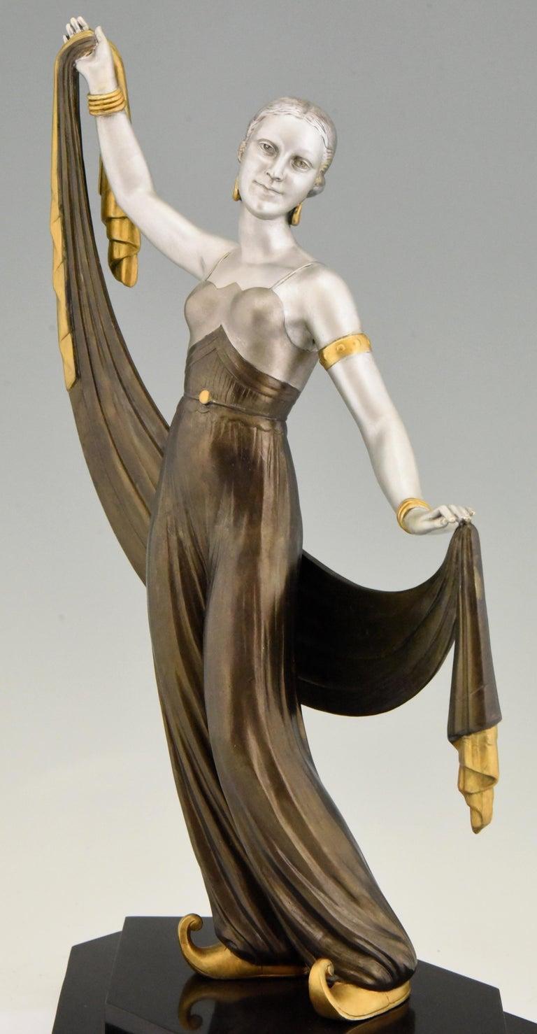 Art Deco Sculpture Harem Dancer Salvador, France, 1930 For Sale 3