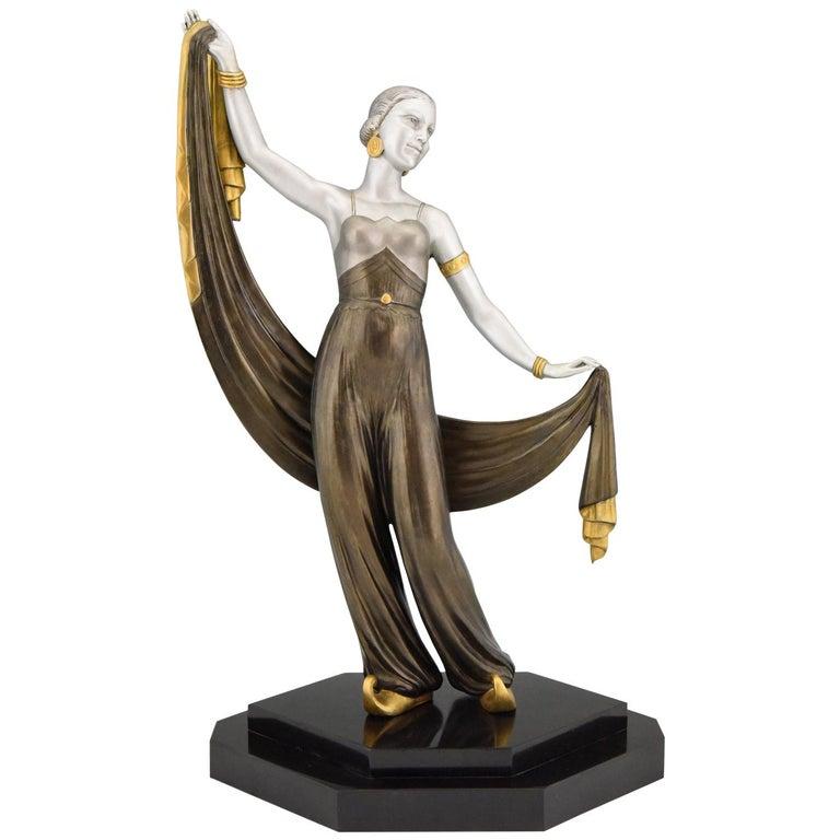 Art Deco Sculpture Harem Dancer Salvador, France, 1930 For Sale