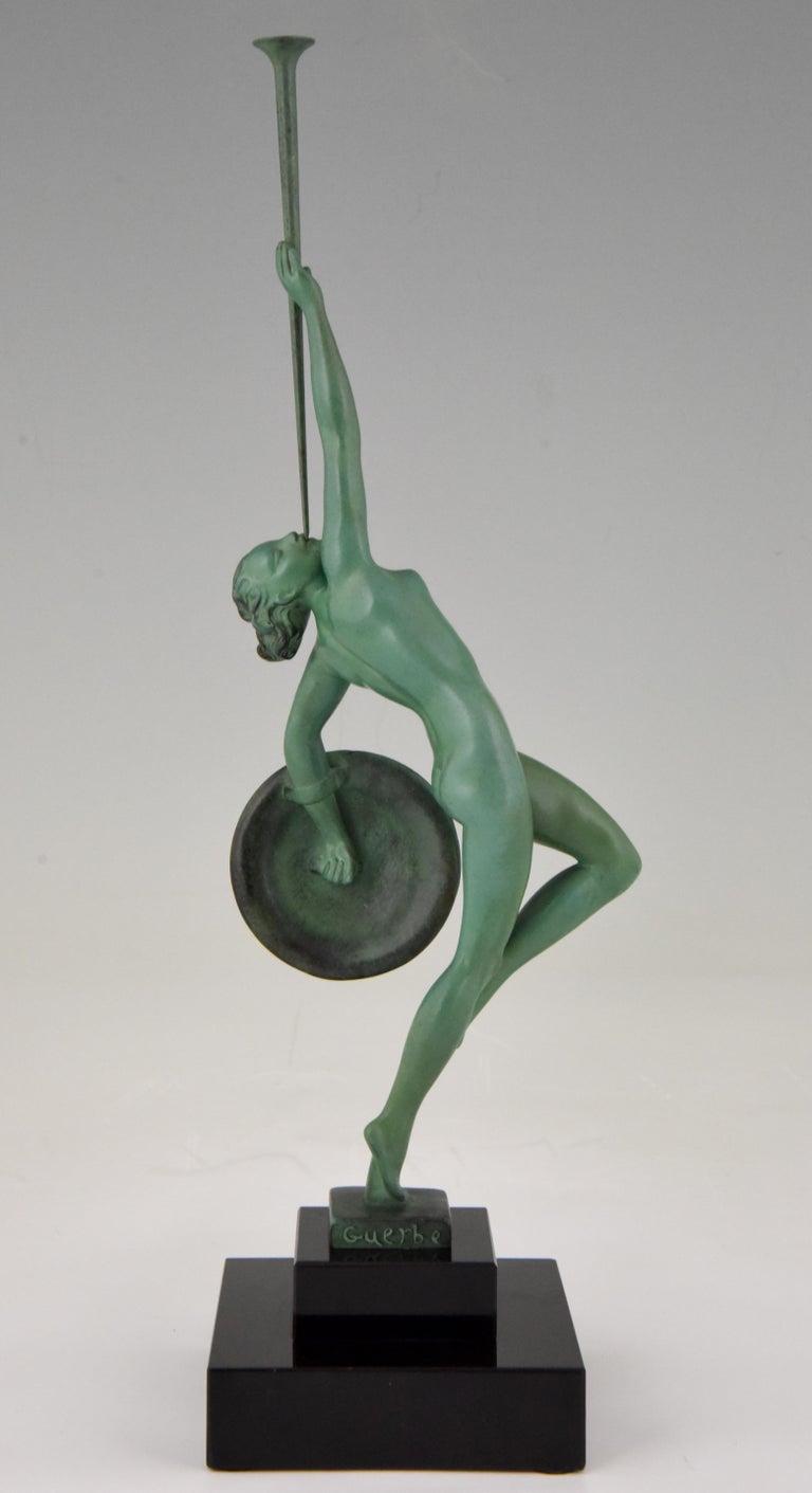 Art Deco Sculpture Nude with Trumpet Jericho Raymonde
