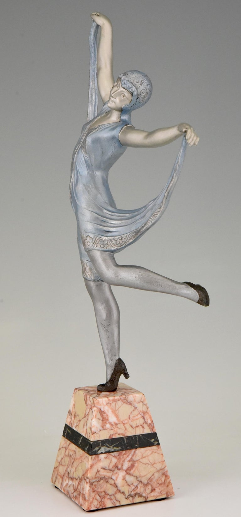 French Art Deco Sculpture of a Dancer Limousin, France, 1930 For Sale