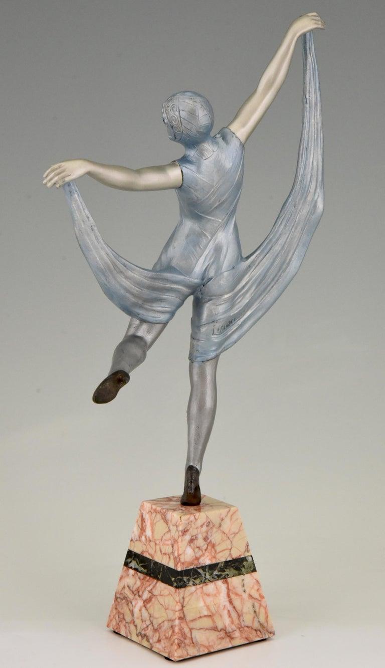 Patinated Art Deco Sculpture of a Dancer Limousin, France, 1930 For Sale