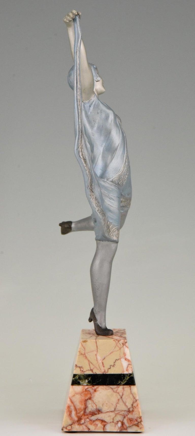 Mid-20th Century Art Deco Sculpture of a Dancer Limousin, France, 1930 For Sale