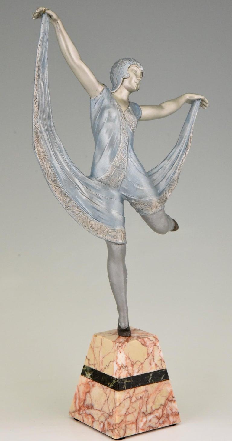 Metal Art Deco Sculpture of a Dancer Limousin, France, 1930 For Sale