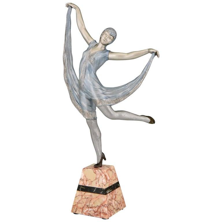Art Deco Sculpture of a Dancer Limousin, France, 1930 For Sale