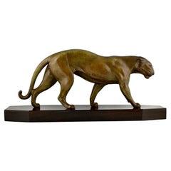 Art Deco Sculpture of a Panther Robert Bousquet, France, 1930