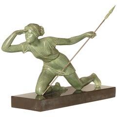 Art Deco Sculpture of Diana the Huntress