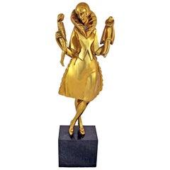 Art Deco Sculpture Pupettes by Pierre Le Faguays