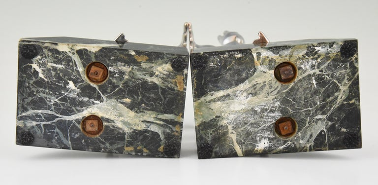 Art Deco Seal Bookends Louis Albert Carvin, France, 1930 For Sale 6