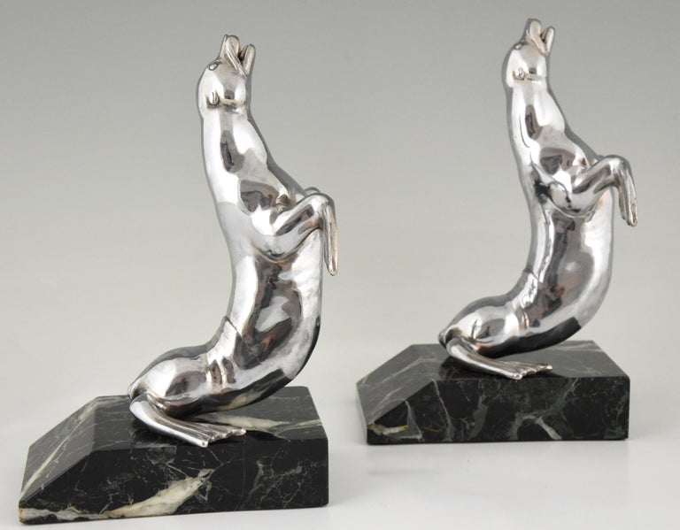 Art Deco Seal Bookends Louis Albert Carvin, France, 1930 For Sale 2