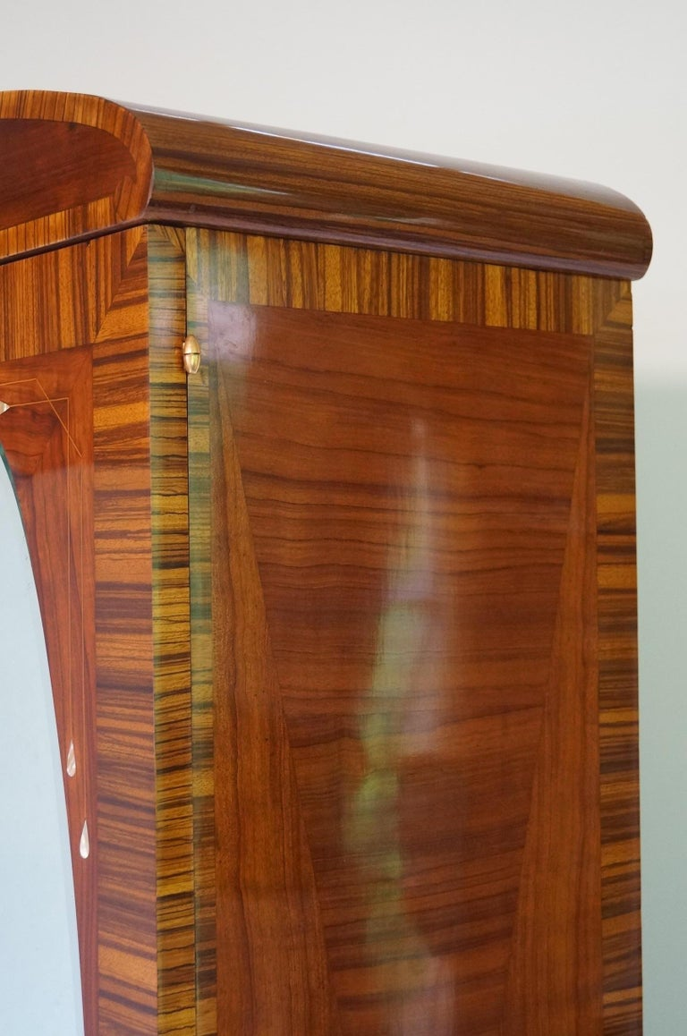 Burnished Art Deco Secesja Wardrobe from 1900-1910 For Sale