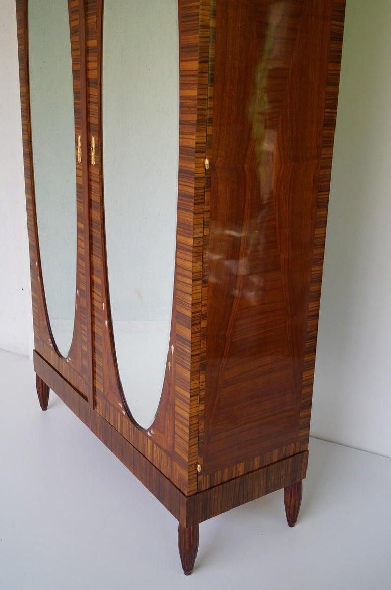 Art Deco Secesja Wardrobe from 1900-1910 In Good Condition For Sale In Kraków, Małopolska