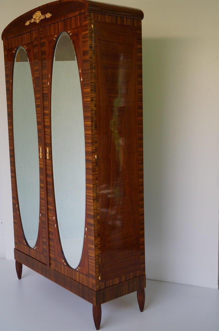 Early 20th Century Art Deco Secesja Wardrobe from 1900-1910 For Sale