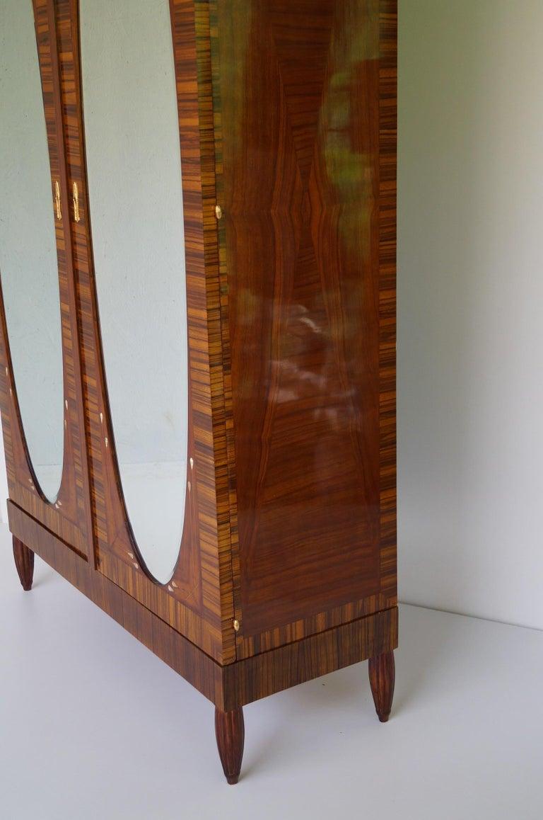 Oak Art Deco Secesja Wardrobe from 1900-1910 For Sale