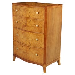 Art Deco Serpentine Front Chest of Drawers, circa 1930