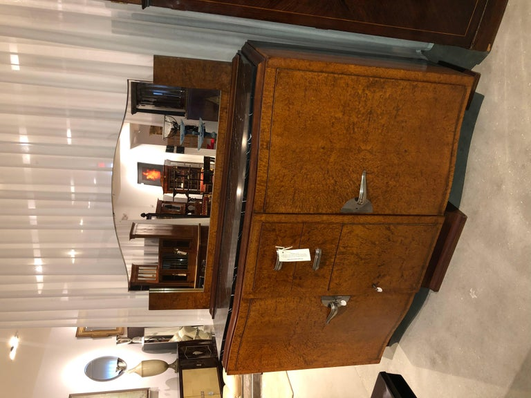 Art Deco Server with Marble Top In Excellent Condition For Sale In Pompano Beach, FL