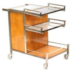 Art Deco Serving Table or Bar by Jacques Adnet