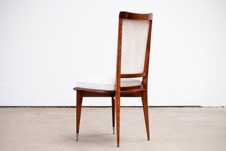 Art Deco Set of 6 Chairs, France, 1940 For Sale 8