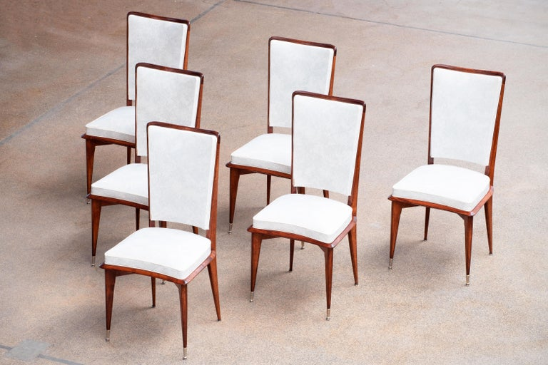 Art Deco Set of 6 Chairs, France, 1940 In Good Condition For Sale In Wiesbaden, DE