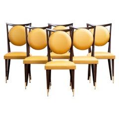Art Deco Set of 6 Chairs, France, 1940