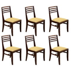 Art Deco Set of Six chairs designed by De Coene, Belgium, 1930s