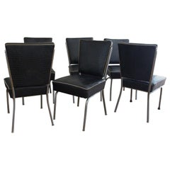 Art Deco Set of Six Chairs
