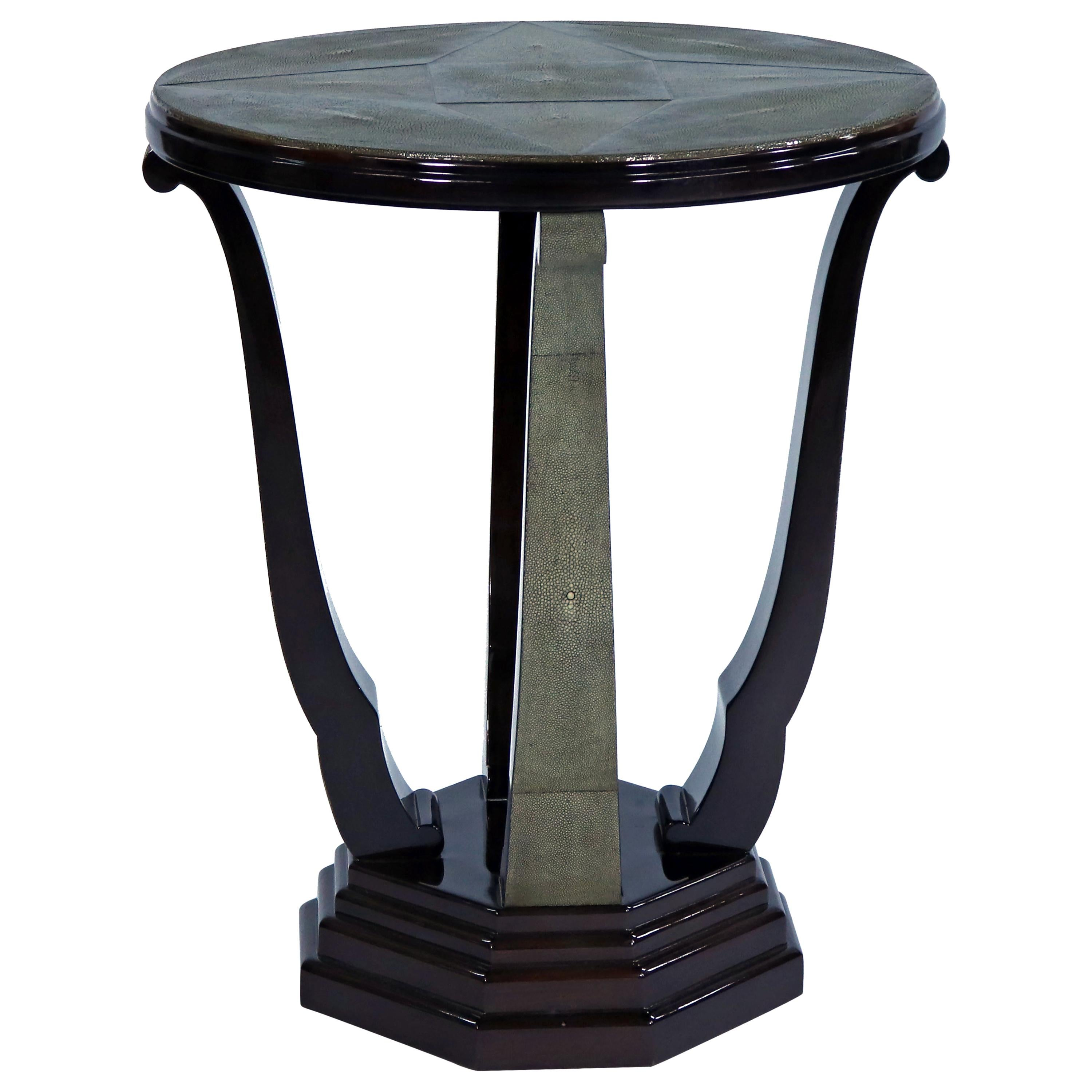 Art Deco Shagreen Entry/Side Table
