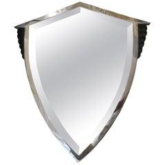 Art Deco Shield Mirror, Italy, 1920