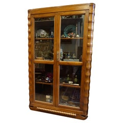 Art Deco Showcase Bookcase Curio Cabinet Solid Teak