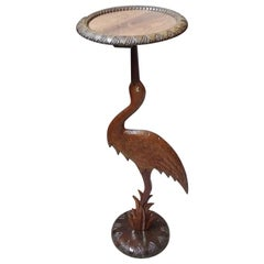 Art Deco Side Table, Bird Plant Stand, Sculptural Table, France, 1920
