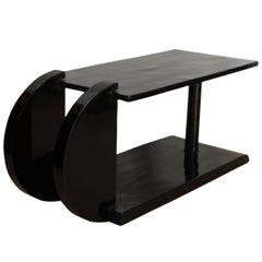 Art Deco Side Table, Black Polish, France circa 1930