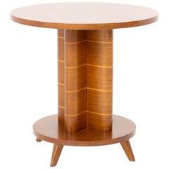 Art Deco Side Table, Oak, France, 1940s