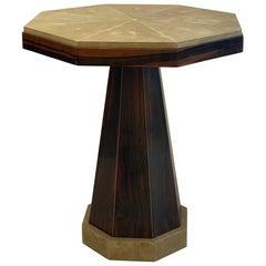 Art Deco Side Table Shagreen and Macassar Ebony