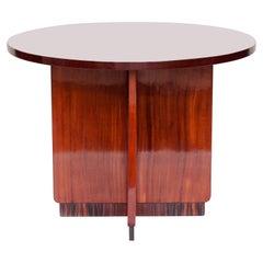 Art Deco Side Table, Walnut and Maccassar Ebony, French, circa 1925