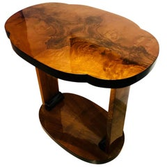 Art Deco Side Table, Walnut Veneer, France circa 1930